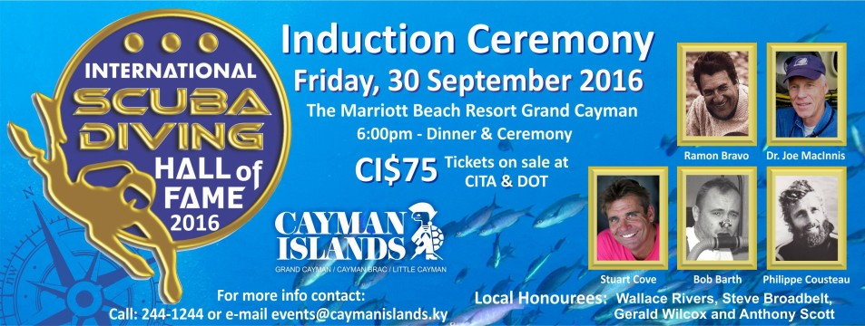 International Scuba Diving Hall Of Fame Induction Ceremony- Sept 30th 2016