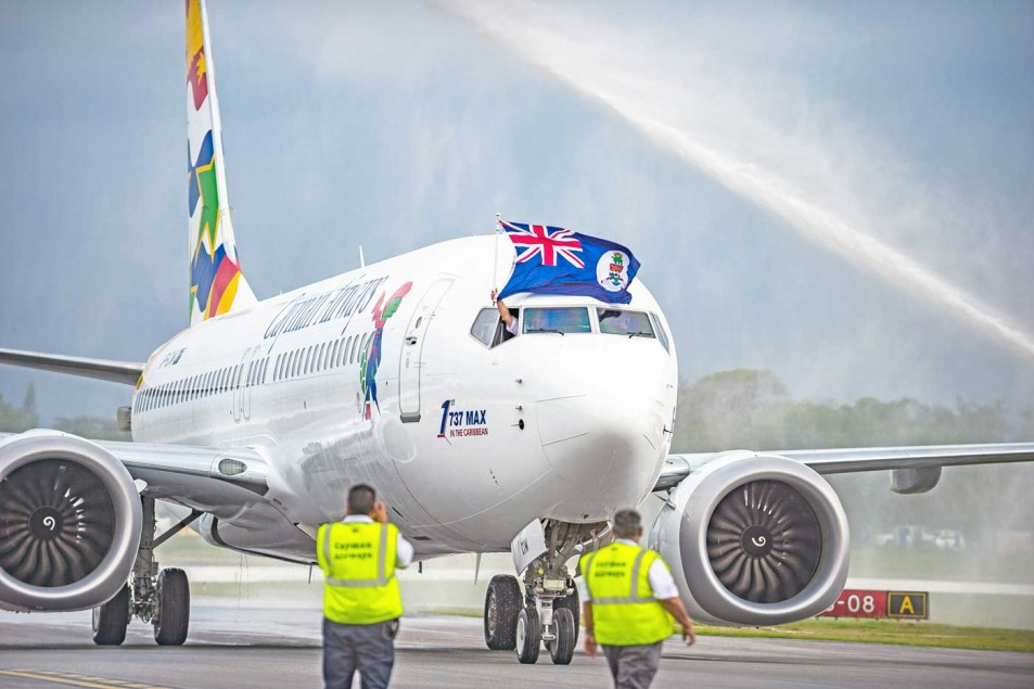 New Cayman Airways jet arrives with fanfare