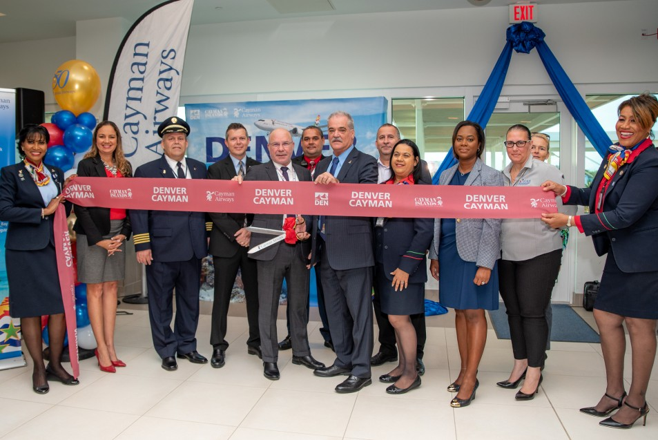 Cayman Airways celebrates inaugural flight  from Cayman to Denver, Colorado