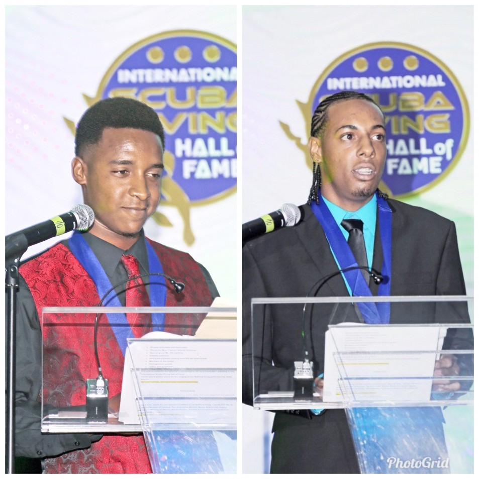 Two receive scuba diving scholarships
