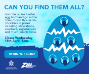 Z99 & CITA EASTER EGG HUNT LAUNCHES ONLINE WITH THOUSANDS OF DOLLARS' IN PRIZES UP FOR GRABS