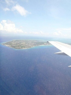 Flying into Cayman