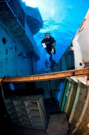 Exploring the deck of Kittiwake